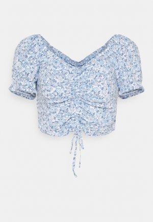 CINCH TIE - Print T-shirt - white/blue