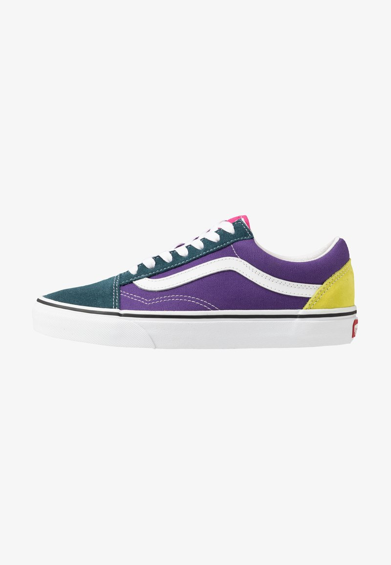 Vans - OLD SKOOL - Matalavartiset tennarit - fuschia purple/multicolor/true white