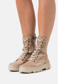 Paul Green - Lace-up ankle boots - beige - 0