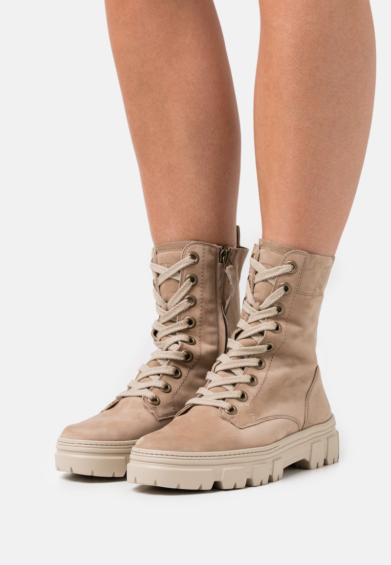 Paul Green - Lace-up ankle boots - beige