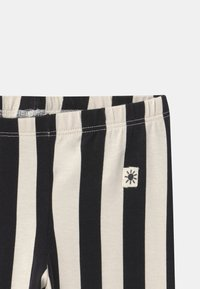 Lindex - VERTICAL STRIPE - Legging - off black - 2