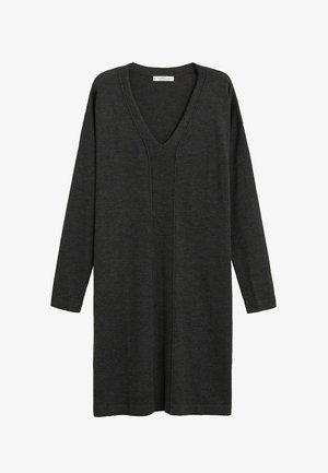 AGORA - Strikket kjole - dunkelgrau meliert