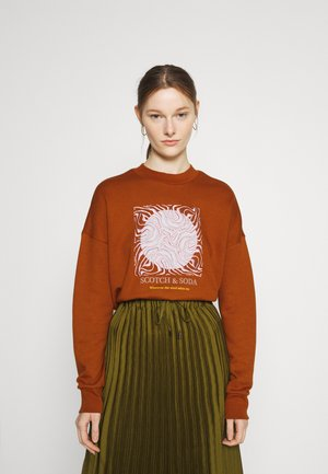 CREWNECK OVERSIZED FIT WITH GRAPHIC - Sweatshirt - brown