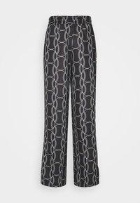 HADA TRACK PANT - Broek - black allover/blanc de blanc