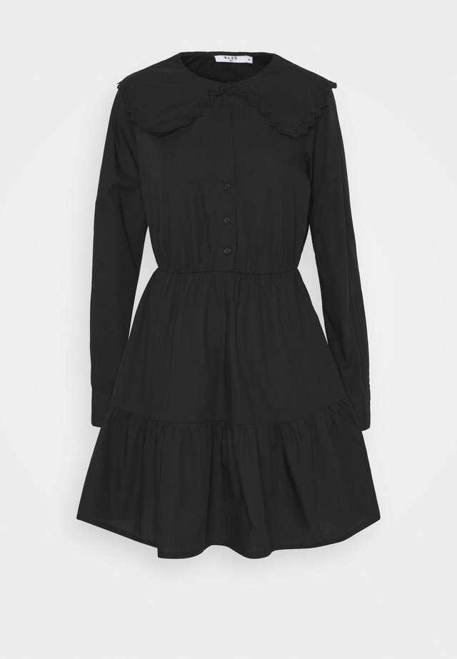 COLLAR DRESS - Day dress - black