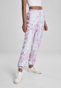 Urban Classics - FRAUEN  - Pantalones deportivos - aquablue/pink - 3