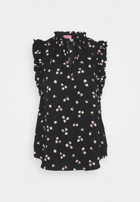 kate spade new york - DITSY BEGONIA TIE NECK SHELL - Blouse - black - 0