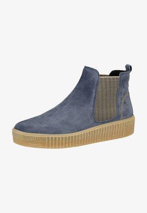 Ankle boots - wint.blau/beige 36