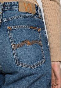 Nudie Jeans - LOFTY LO FAR OUT - Straight leg jeans - blue denim - 4