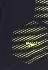 Speedo - TECH PLACEMENT JAMMER - Swimming trunks - true navy/fluorecent yellow - 2