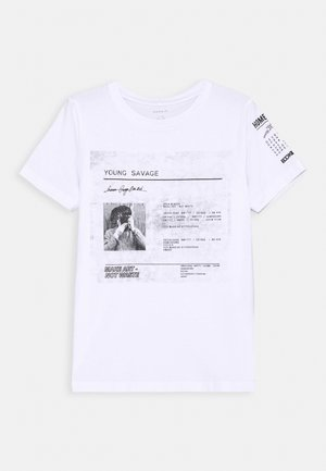 NKMBAILO BOX - Print T-shirt - bright white