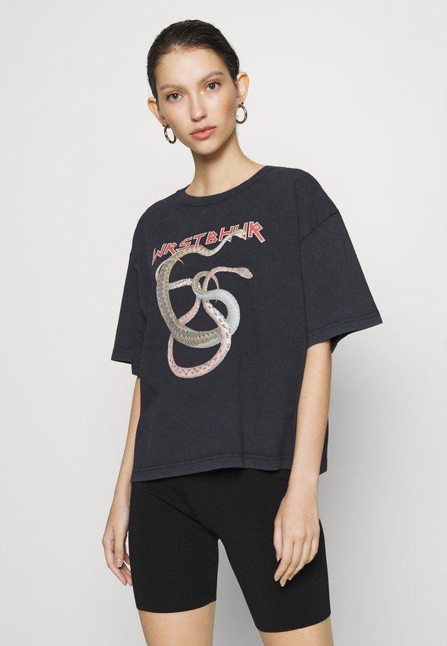 MAMBA - T-shirt imprimé - black vintage