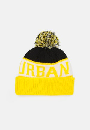 BEANIE UNISEX - Berretto - black/chromeyellow