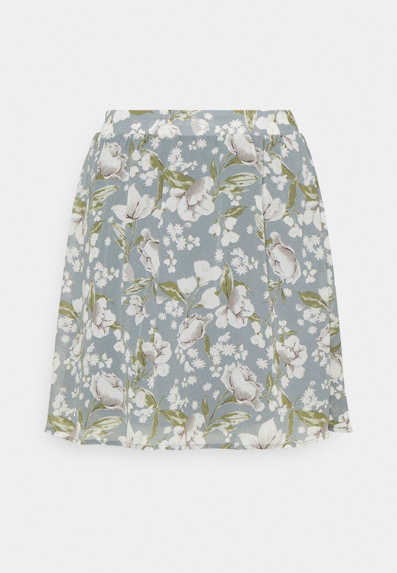 Vila - VIMILINA MINI SKIRT - Mini skirt - ashley blue/white