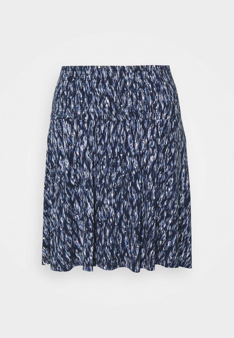 ICHI PETITE - LISA - A-line skirt - blue