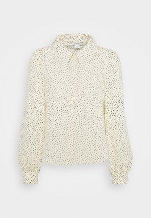 Button-down blouse - light yellow