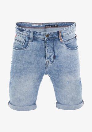 RIVTOM - Denim shorts - light blue denim