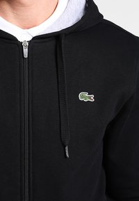 Lacoste Sport - HERREN SWEATJACKE-SH7609 - Huvtröja med dragkedja - noir/argent chine - 4
