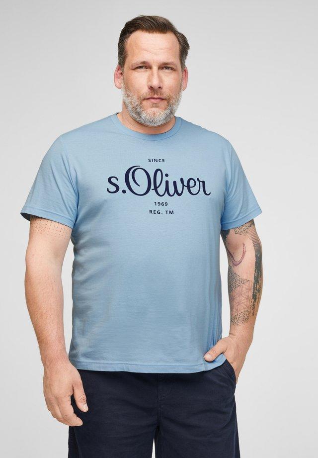 MIT LABELPRINT - Print T-shirt - light blue