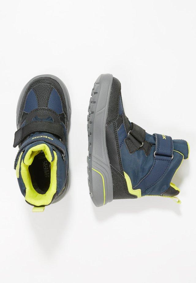 SVEGGEN BOY - Winter boots - navy/lime green