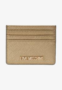 Love Moschino - Etui na wizytówki - gold - 1