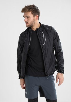 MAN TRAIL JACKET - Laufjacke - nero