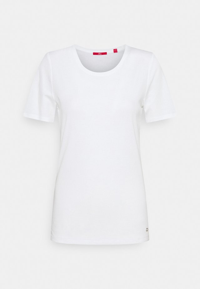 KURZARM - Jednoduché triko - white