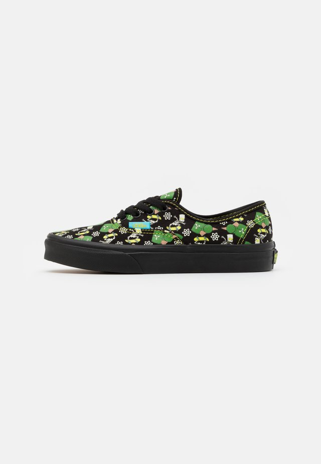 THE SIMPSONS AUTHENTIC GLOW IN THE DARK - Tenisky - black