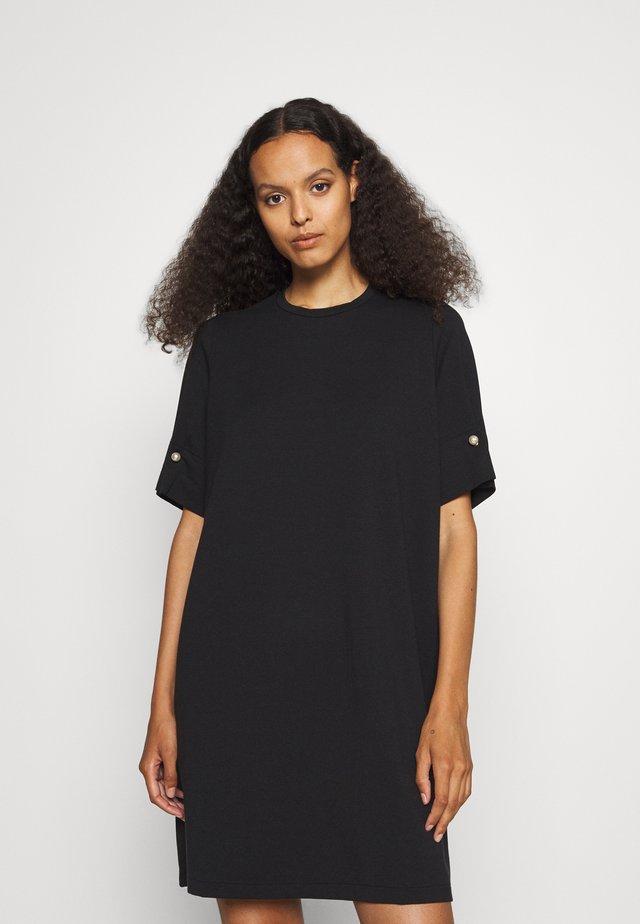 T-SHIRT DRESS WITH BAR - Jersey dress - black