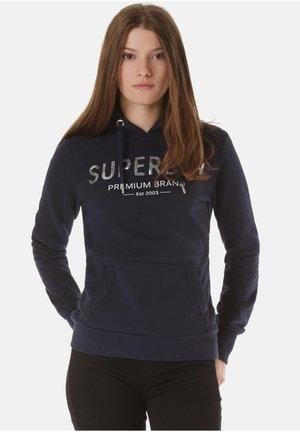 SUPERDRY KAPUZENPULLOVER PREMIUM SEQUIN - Hoodie - blue