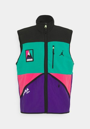 MOUNTAINSIDE  - Waistcoat - black/neptune green/watermelon