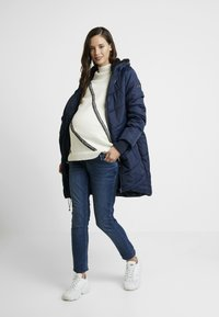 Modern Eternity - HARPER THIGH COCOON PUFFER COAT - Winter coat - navy - 1