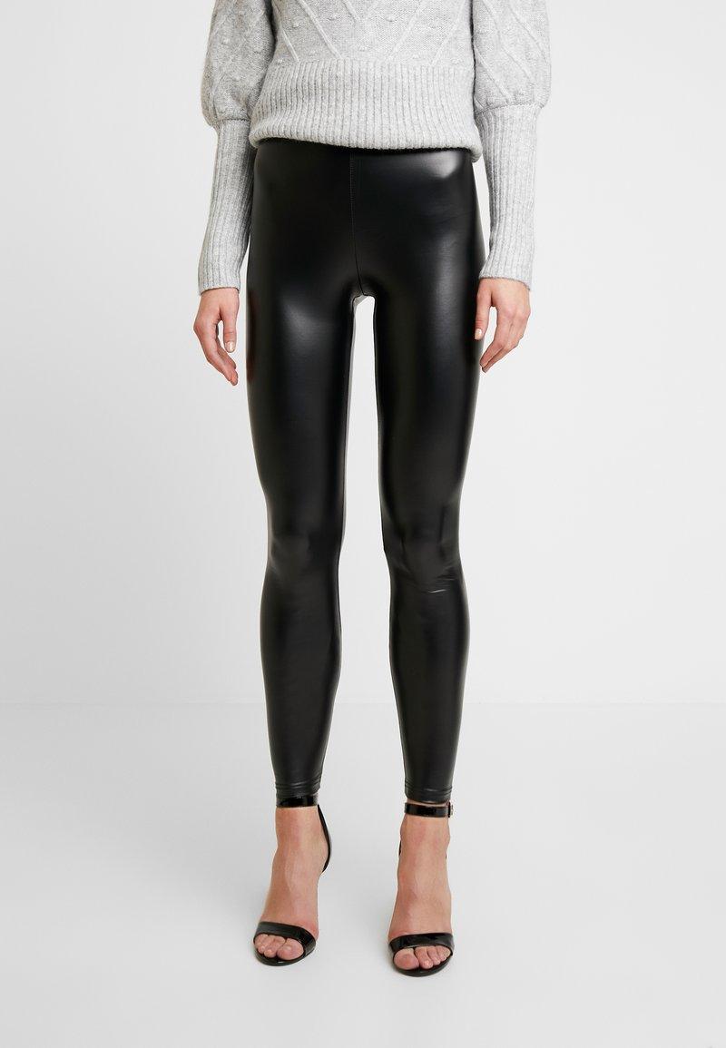 Cotton On - CHELSEA HIGH WAISTED - Leggings - black