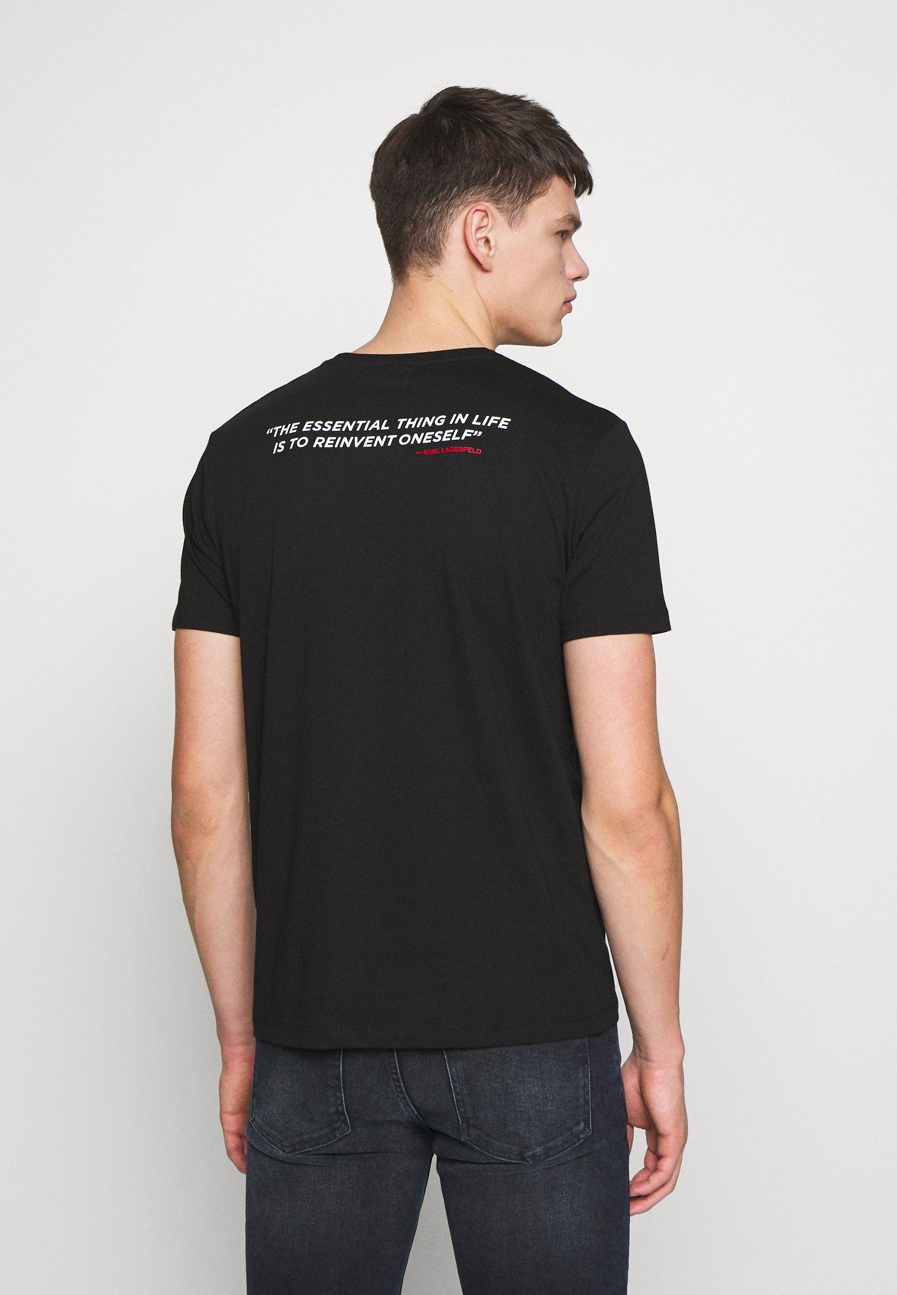 KARL LAGERFELD CREWNECK - T-shirt imprimé - black