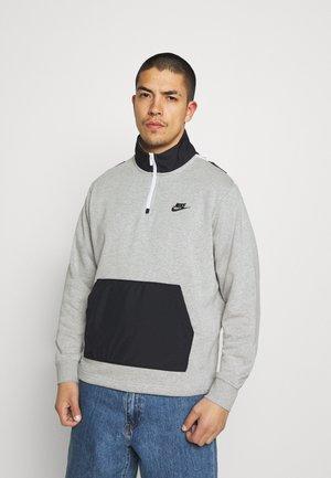 Collegepaita - grey heather/black