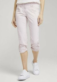 TOM TAILOR - Trousers - beige thin stripe - 0