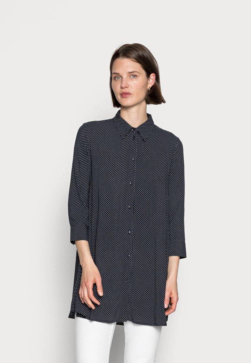 Opus - FARLA - Button-down blouse - mystic blue