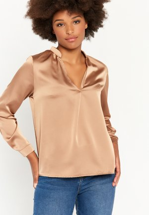 WITH LONG SLEEVES - Long sleeved top - sand