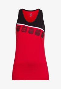 Erima - 5-C TRAININGSTANK KINDER - Top - rot / schwarz / weiß - 0