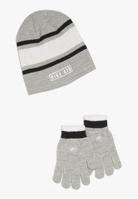 Nike Sportswear - STRIPE BEANIE GLOVE SET - Handsker - grey heather - 0