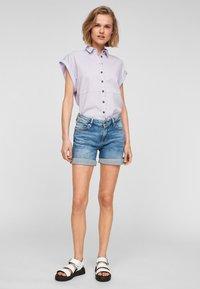 Q/S designed by - Denim shorts - medium blue - 1