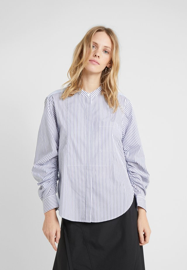 STRIPED SHIRT GATHERED  - Paitapusero - blue/white