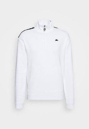 HASSO HALF ZIP - Sweatshirt - bright white