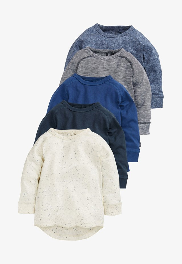 FIVE PACK - Long sleeved top - blue