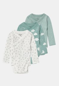 Carter's - CLOUD 3 PACK UNISEX - Body - light green/off white - 0