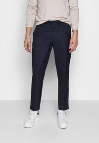Isaac Dewhirst - CHECK TROUSERS - Spodnie materiałowe - navy - 0