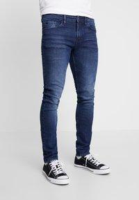 TOM TAILOR DENIM - CULVER STRETCH - Jeans Skinny Fit - used dark stone blue denim - 0