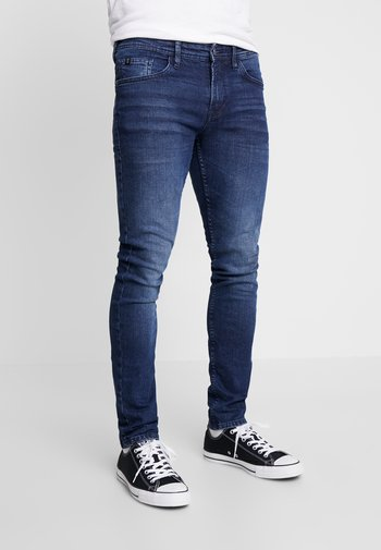 CULVER STRETCH - Jeans Skinny Fit - used dark stone blue denim