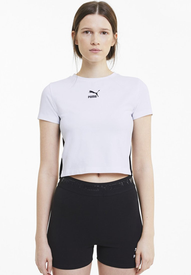 Puma - CLASSICS TIGHT CROPPED - T-Shirt print - white