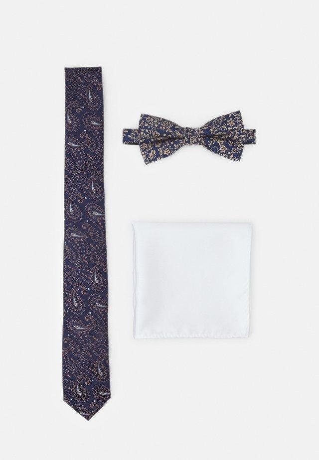 JACSHINNY NECKTIE SET - Tie - dark blue/gold-coloured